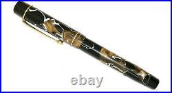 1930 Cracked ice Mabie Todd & co Swan Pen Lever pen rare super flex soft nib 2mm