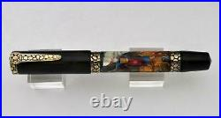 2001 Rare Krone Moses Limited Edition Fountain Pen 18k Nib In Solid Marble Box