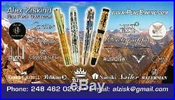 2005 Rare Krone Albert Einstein Limited Edition Of 288 Fountain Pen 18k Med Nib