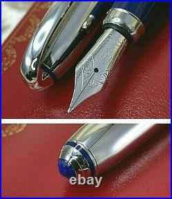 CARTIER Louis Cartier Art Deco Platinum Blue Enamel Limited Edition 1847 piece