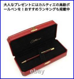 Cartier Ballpoint pen Santos de Black With Box & Instructions & Ink Rare New JP