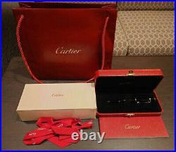 Cartier DIABOLO DE Ballpoint Pen Black composite ST180010 withBox, Guarantee Rare