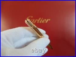 Cartier Diabolo Mini Rose Gold Ballpoint Pen Very Rare Compl. W. Box/Guarantee