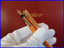 Cartier Must Fountain Pen With 18K Gold Nib Very Rare WithBox and Certificate