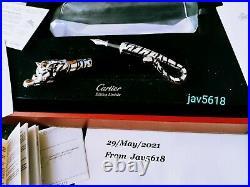 Cartier Tiger F. Pen Prestige Exceptional Art L. E 100 Ultra Rare, New