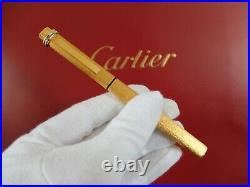 Cartier Vendome Fountain Pen With 14K Gold Nib + Cartier Lighter Rare Set