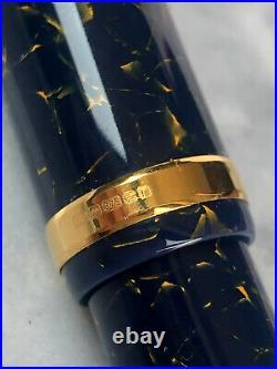 Conway Stewart Blue Lapis Churchill 18ct Gold Fine Nib Fountain Pen RARE