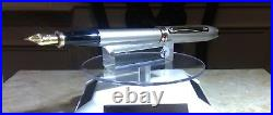 Cross townsend fountain pen silver & SOLID gold 18K RARE BB nib made in usa