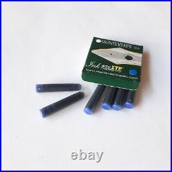 Delta Trend Collection Y2K Brown Fountain Pen Fine Nib Rare Free 6 Cartridge