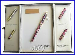 Elysee Limited Edition Fountain Pen Lacquer Intarsia 18K X Fine Pt New In Box