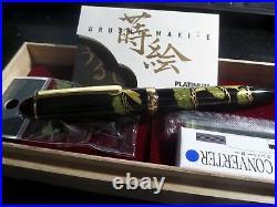 FABULOUS RARE PLATINUM #3776 URUSHI TAKA MAKI-E BONSAI PINEWOOD Fountain Pen New