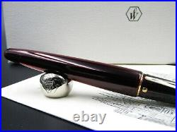 Fountain Pen Waterman Edson Ruby Red With Solid Gold Nib 18kt F Rare New in Box