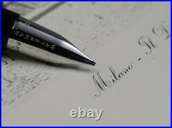 Fountain Pen Waterman Serenite Black With Solid Gold Nib 18k ST Rare New in Box