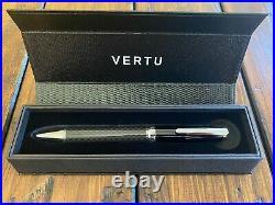 Genuine Vertu Carbon Fiber Pen Brand New in BOX Super RARE, Collector item