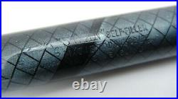Gorgeous Rare Swan Sm205/83, Blue Snakeskin, Semi Flex, 14k Medium Nib
