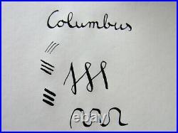 Italian rare facetted COLUMBUS EXTRA P fountain pen 14ct flexible nib