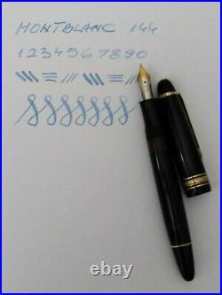 MONTBLANC MEISTERSTUCK 144 Fountain pen 14k Flex Nib Vintage Rare in Case