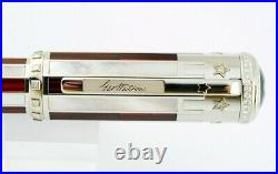 MONTBLANC RARE 4th OF JULY SKELETON LE OF 8 PENS SOLID 18K GOLD DIAMONDS