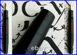 Montblanc 136 1st Issue Celluloid Fountain Pen 1937. 14C 235 F/M Flex Nib. Rare
