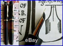 Montblanc 136 BHR & Celluloid Fountain Pen 1936. 14C 235 F/M Full Flex Nib. RARE