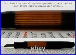 Montblanc 136 Celluloid & BHR Fountain Pen 1938 1940. 14C F Flex Nib. Rare