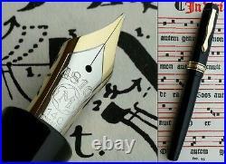 Montblanc 136 Celluloid Fountain Pen 1947 to 50s. 14C F Flex Nib. Serviced. Rare