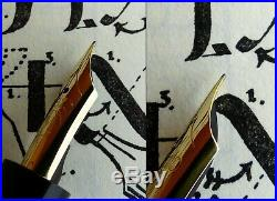 Montblanc 136 Compact Celluloid Fountain Pen 1938. 14C 235 F Full Flex Nib. RARE