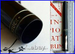 Montblanc 136 WWII Celluloid Fountain Pen 1941. 14C F Full Flex Nib. MINT. RARE