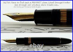 Montblanc 149 Celluloid Fountain Pen 1950's. 18C M Flex Nib. N. O. S. Mint. V. Rare