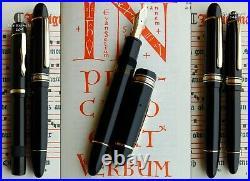 Montblanc 149 Silver Rings Celluloid Fountain Pen 1955. 14C EF Nib. RARE
