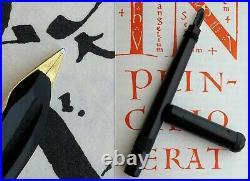 Montblanc 1 Baby BHR Safety Fountain Pen 1920's. 14C F/M Flex Nib. Serviced Rare