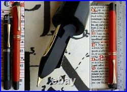 Montblanc 25 RED Celluloid 1st Issue Fountain Pen 1929. 14C EF flex Nib. V RARE