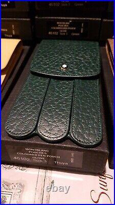 Montblanc Color Leather 3 Pen Glove Case Pouch RARE Limited Edition Complete NOS