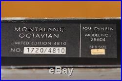 Montblanc Octavian Fountain Pen Mint, Complete # 1720/4810 Fine Nib, Rare