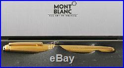Montblanc Vermeil Barley Rollerball Pen New In Box Rare 163V In Original Box
