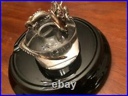 Montegrappa 1995 Solid Silver Limited Edition Inkwell, Rare 58/500