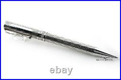 Montegrappa Vintage Sterling Silver Cylindrical Heritage Ballpoint Pen RARE