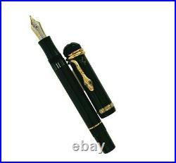 New Montblanc Agatha Christie vermeil LE Fountain Pen M