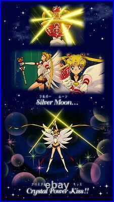 New PREMIUM BANDAI Sailor Moon Instruction Ballpoint Pen Eternal set Rare Japan
