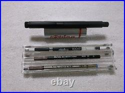 New Rare Rotring Lambda Matte Black Rollerball Pen