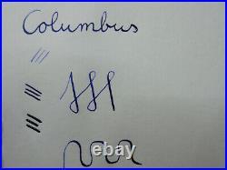 Nice & rare Italian COLUMBUS EXTRA 29 fountain pen 14ct flexy F nib