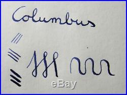 Nice & rare Italian COLUMBUS EXTRA 33 fountain pen 14ct flexible F nib