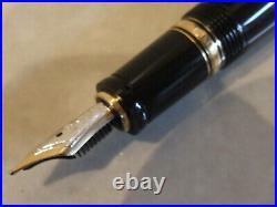 Official Dealer NEW MontBlanc Rare Black & Gold Boheme Retractable Founbtain Pen