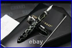 Omas 360 Wild Celluloid Fountain Pen Rare 52 Degree Nib