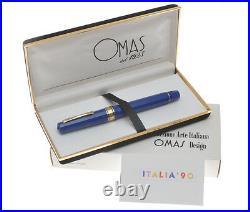Omas Italia 90 L. E. 1990 fountain pen RARE BLUE MODEL new in box