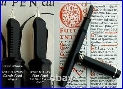 Onoto Magna 1873 first issue fountain pen 1937. F FULL Flex Nib. Serviced. Rare