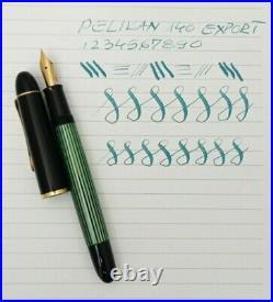 PELIKAN 140 Fountain Pen Export Flex 14k F to BB Nib Excellent Vintage Rare