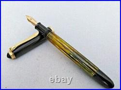 PELIKAN 400NN Tortoise Fountain Pen Rare Color 14k M Flex Nib Excellent Vintage