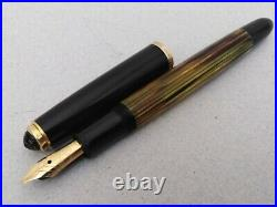 PELIKAN 400NN Tortoise Fountain Pen Rare Color 14k OM Flex Nib Excellent Vintage