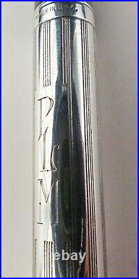 PRICE CUT AGAIN! Waterman Sheraton sterling overlay pen, rare Blue blunt nib